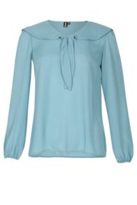 Izabel London Cute Collar Long Sleeved Top