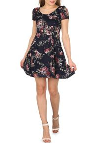 Izabel London Gathered Skater Dress