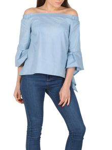 Izabel London Gypsy Tulip Sleeve Top