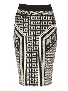 Izabel London Doodle Print Skirt