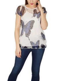 Izabel London Butterfly Blur Top