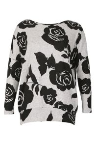 Izabel London Floral Print Sweat Top