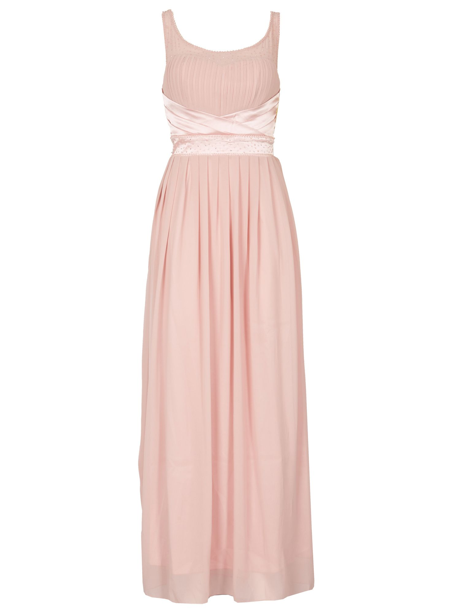 Izabel London Embellished Maxi Dress, Pink