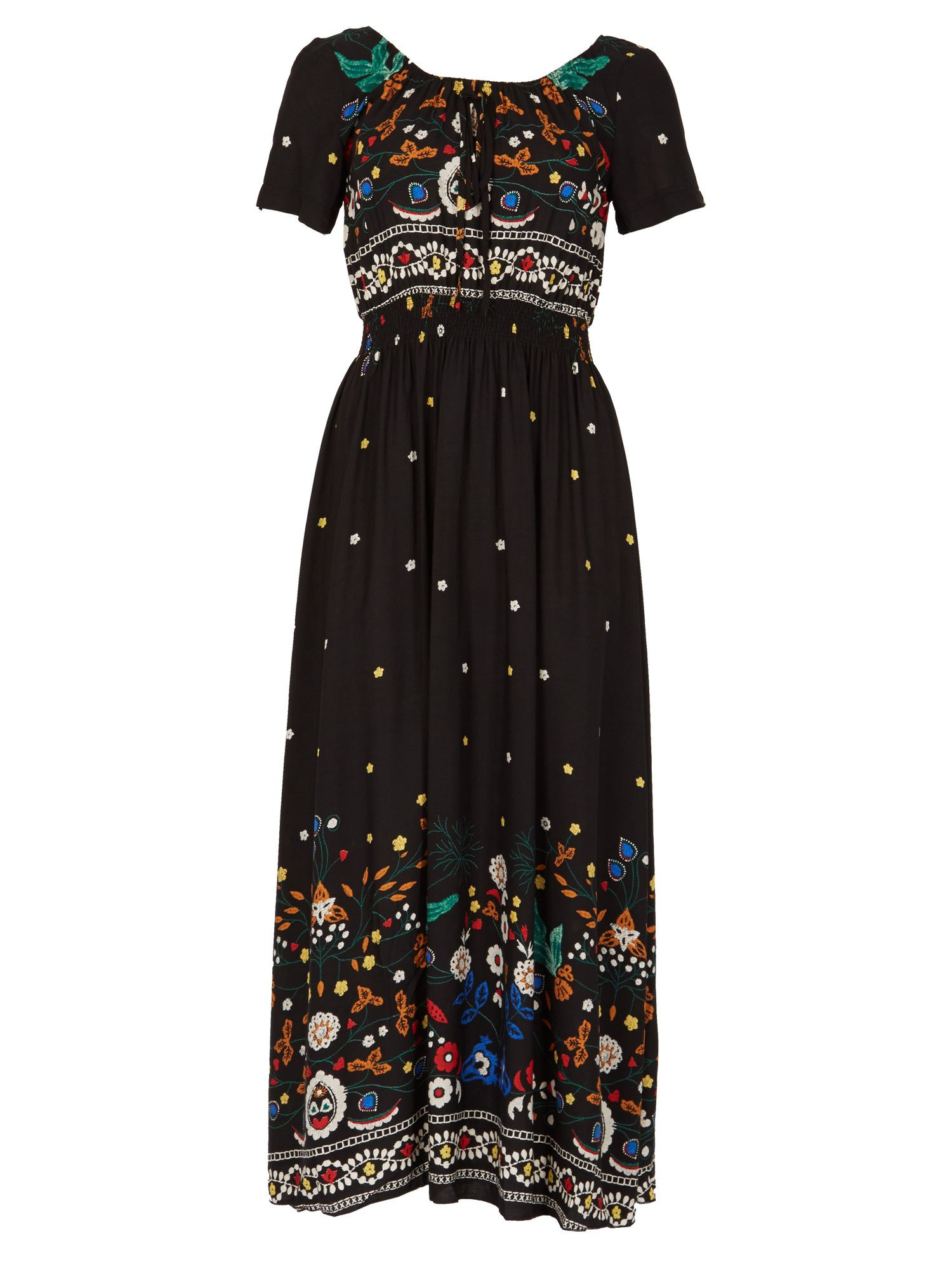 Izabel London Printed Maxi Dress, Black