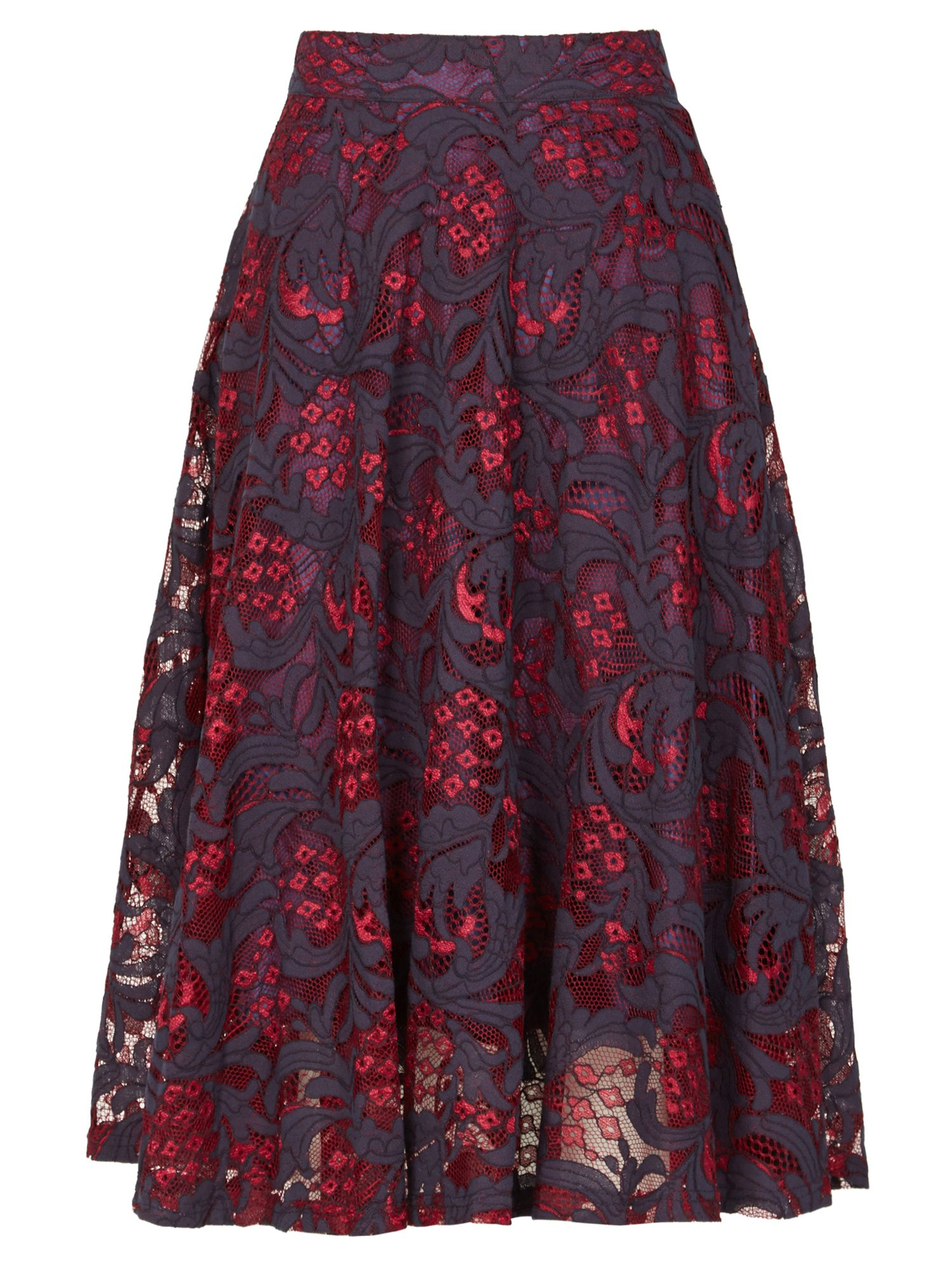 Izabel London Lace Prom Skirt, Fuchsia