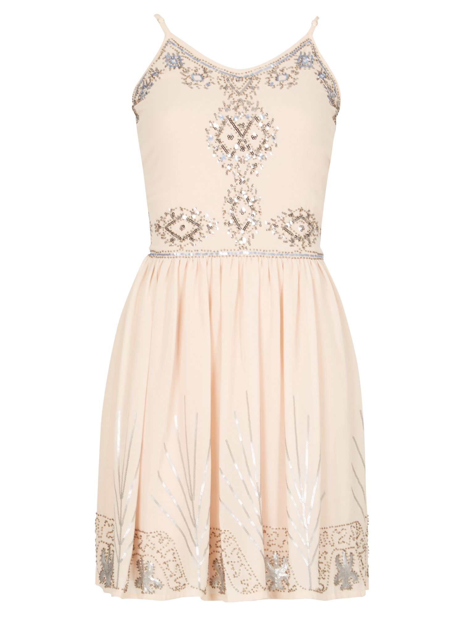 Izabel London Sequin Embellished Dress, White