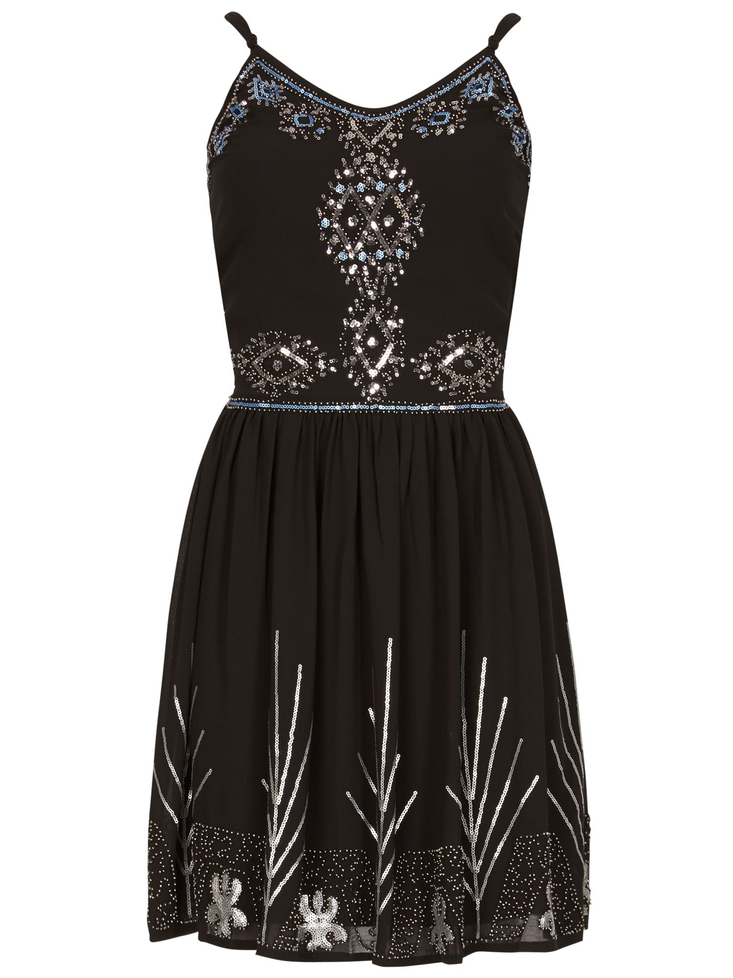 Izabel London Sequin Embellished Dress, Black