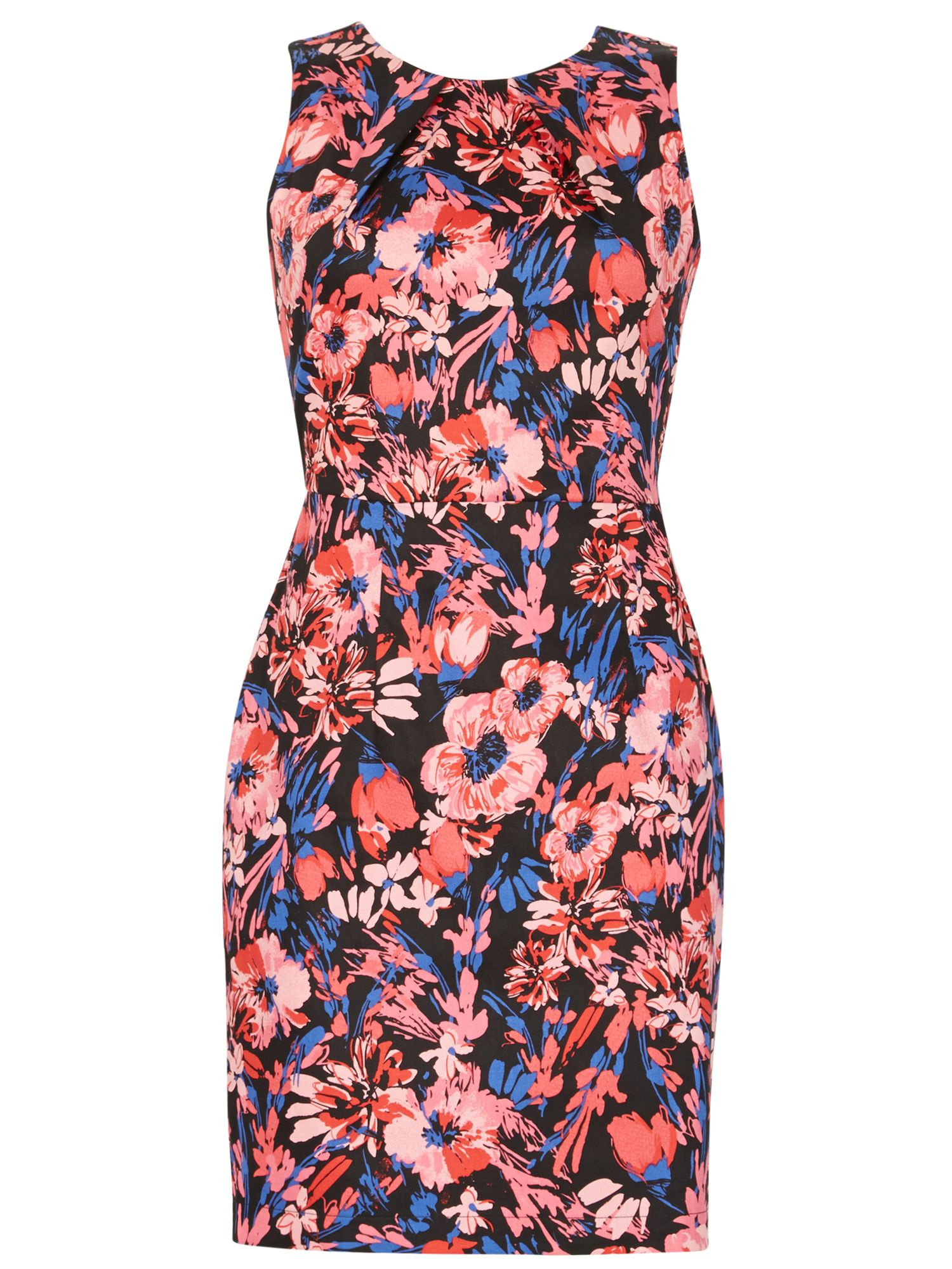 Izabel London Floral Tailored Dress, Multi-Coloured