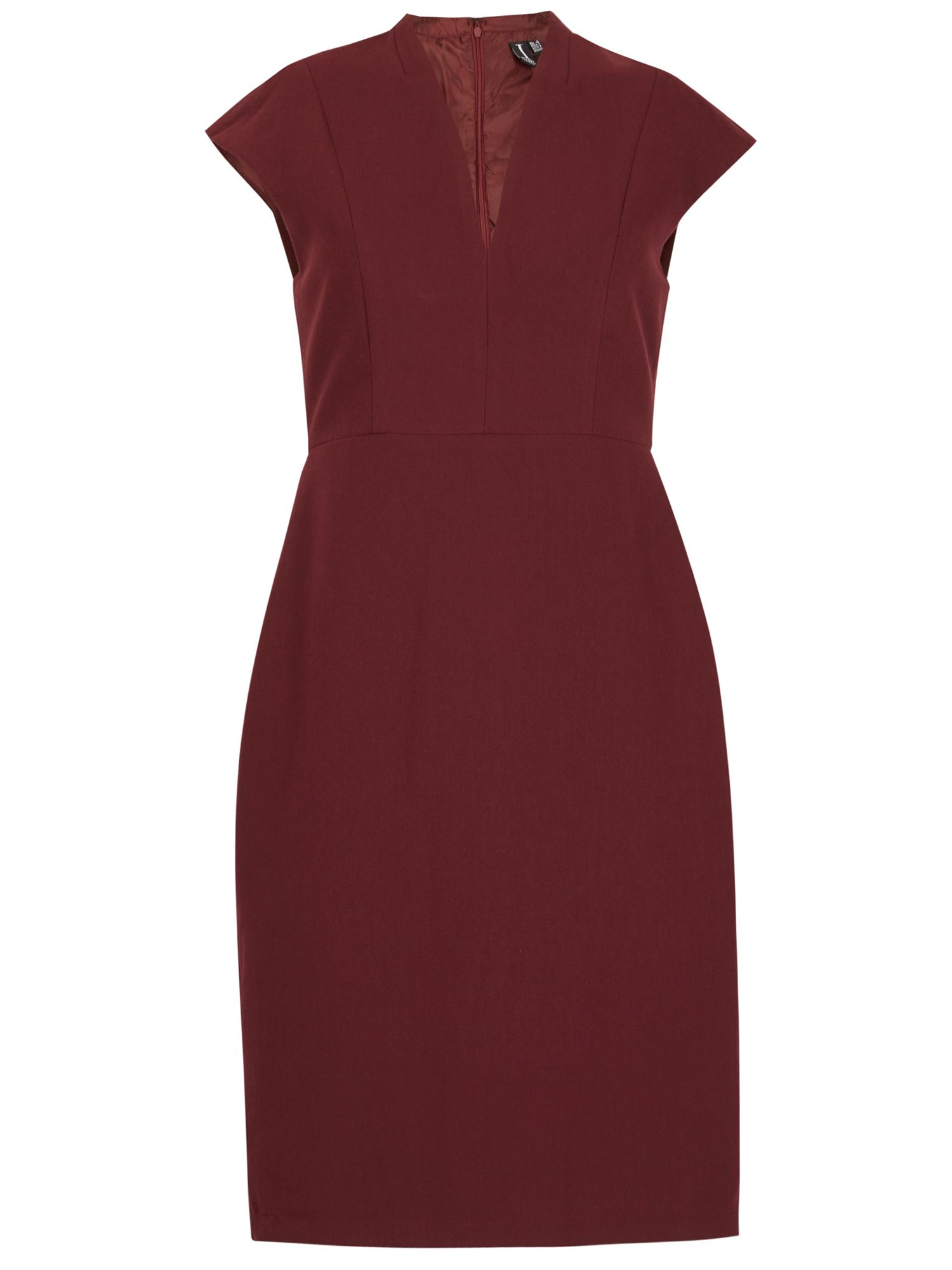 Izabel London V Neck Midi Dress, Red