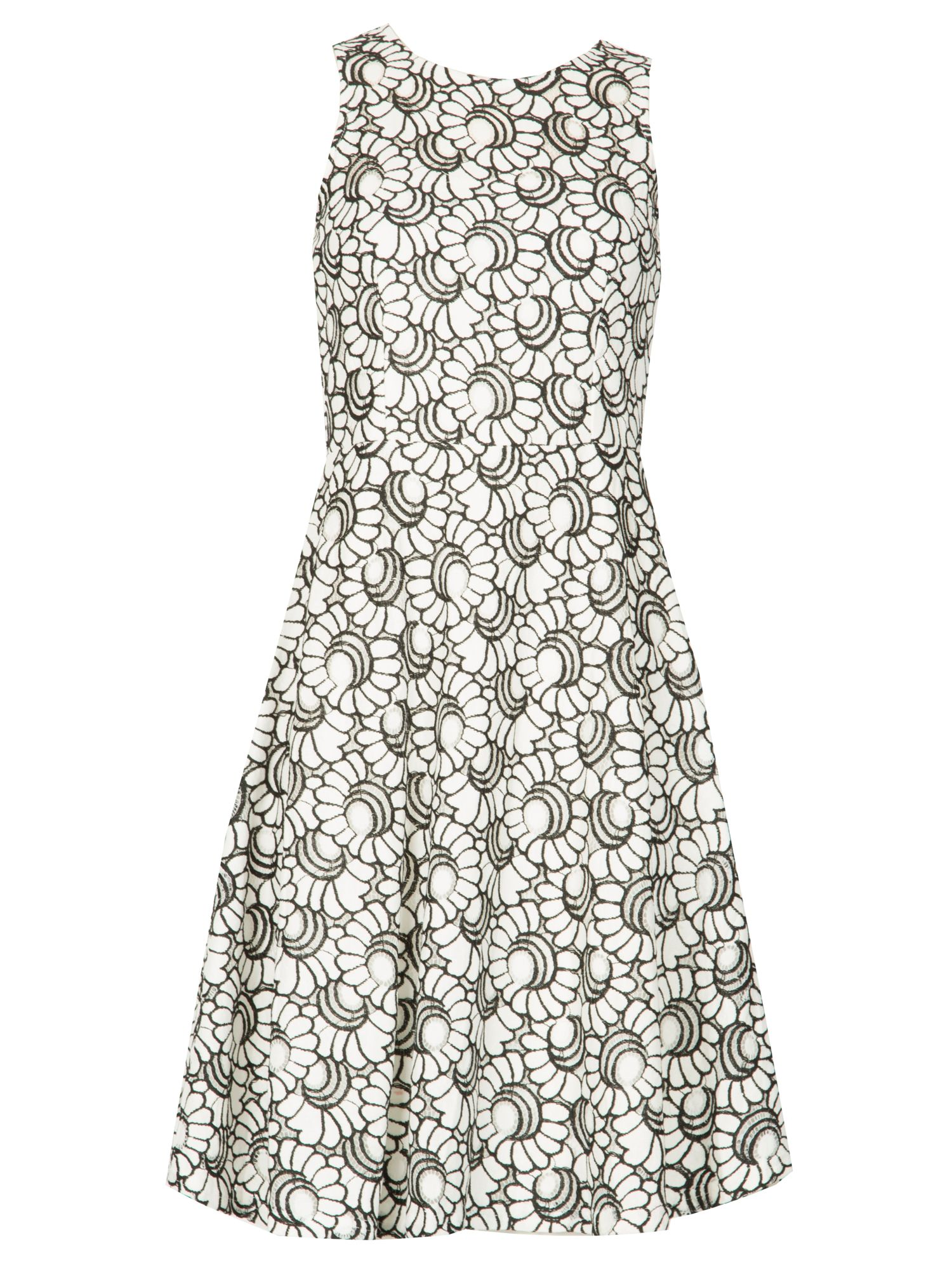 Izabel London Embroidered Floral Lace Dress, White