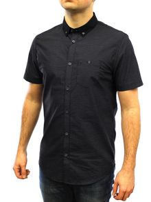 Luke Spencer Short Sleeve Satin Collar Shirt