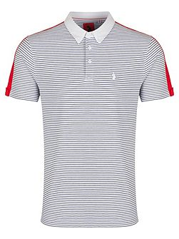 Gruff contrast detail striped polo