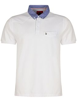 Masons testimonial mixed fabric polo