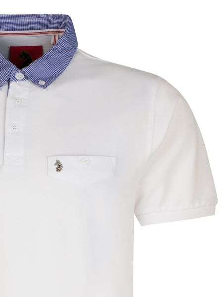 Luke 1977 Masons testimonial mixed fabric polo