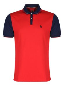Luke Steve the doorman tipped collar polo