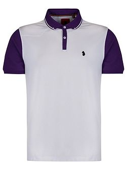 Steve the doorman tipped collar polo