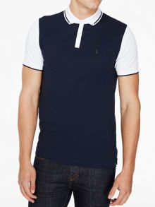 Luke 1977 Steve the doorman tipped collar polo
