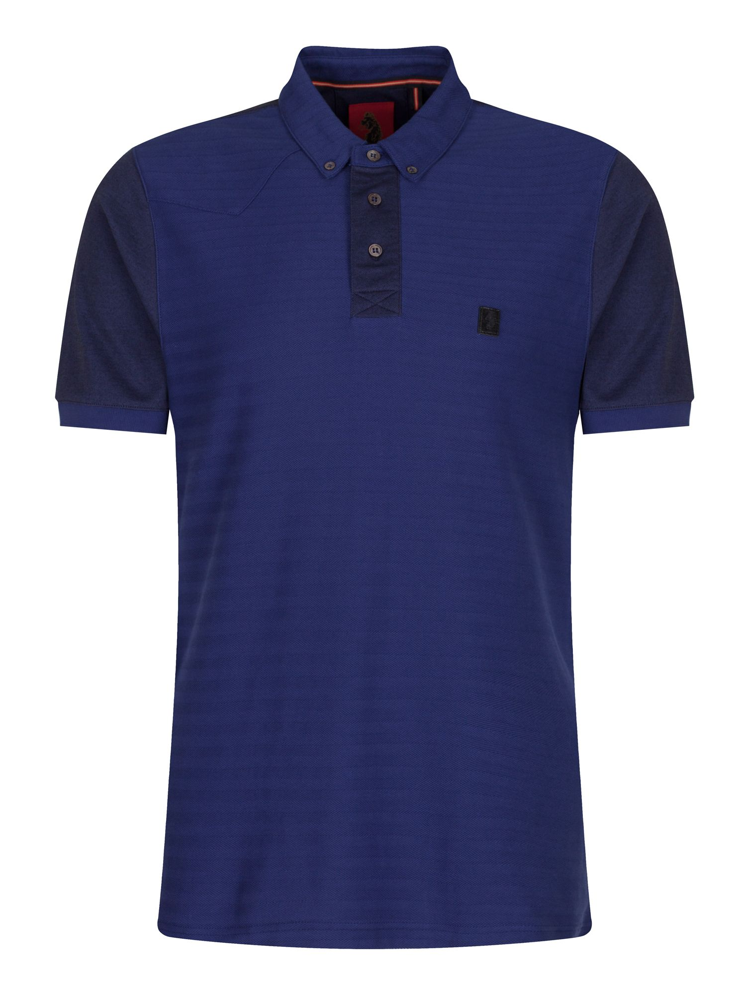 Men's Luke 1977 Happy Days Hem Placket Detail Polo Shirt, Blue