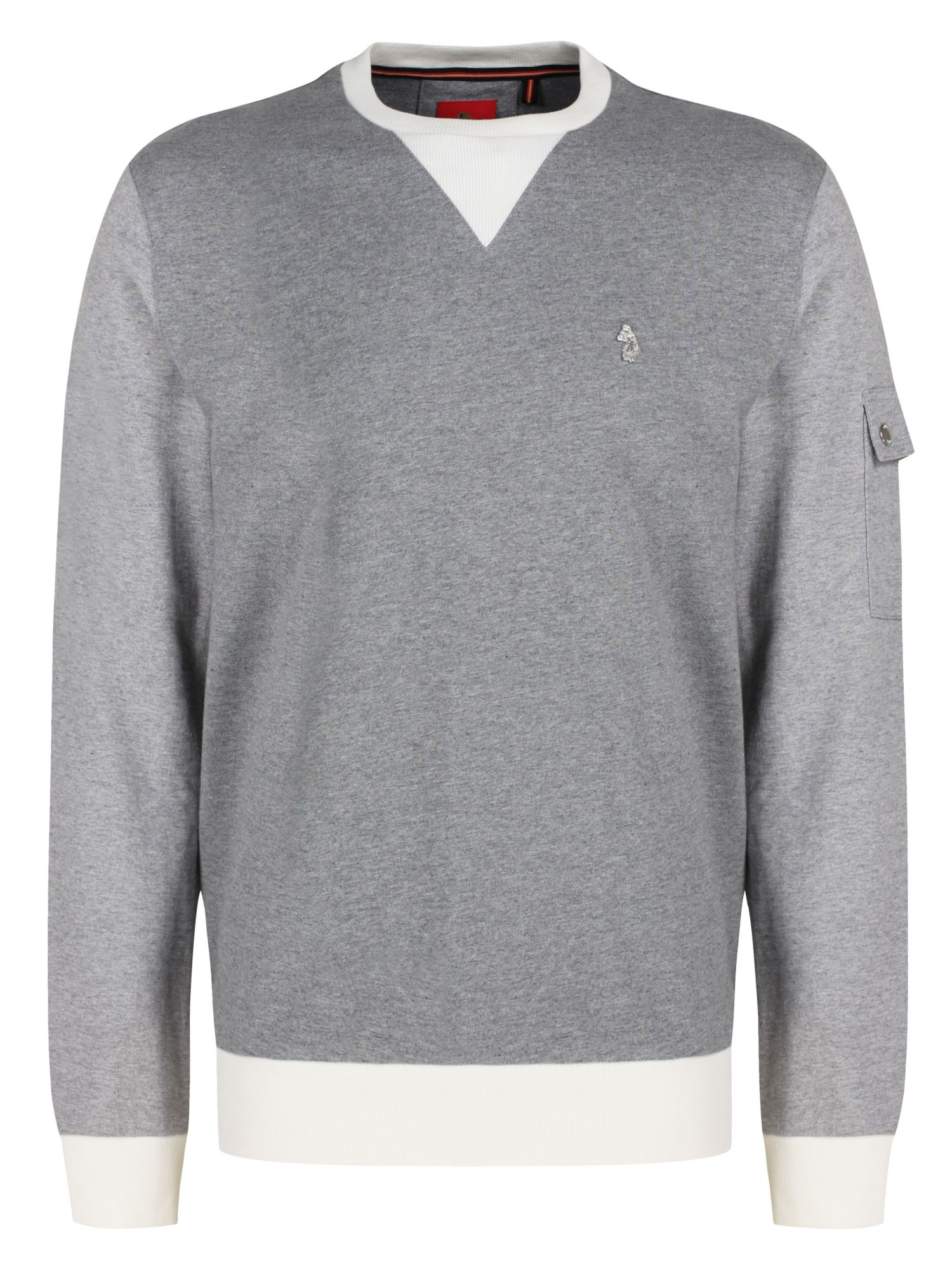 Men's Luke 1977 Tri Max Multi Colour Sweat, Grey