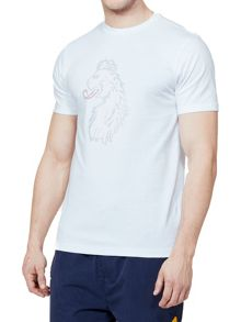 Luke 1977 Cross Stitch Lion Printed T-Shirt