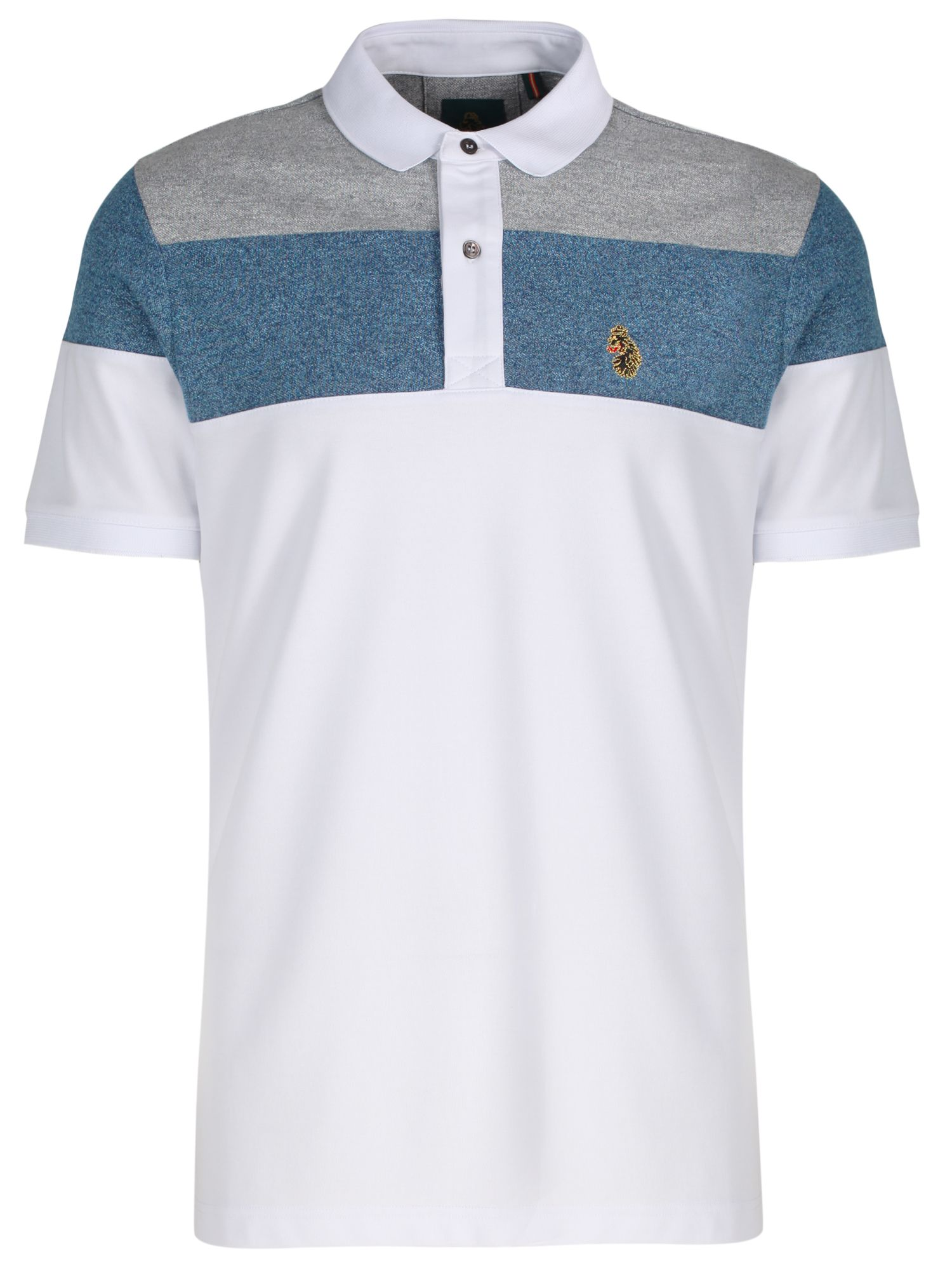 Men's Luke 1977 Mickey Spacer Luke Sport Striped Polo, White