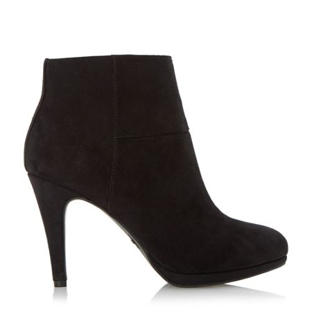 Linea Ocean kitten heel side zip ankle boots