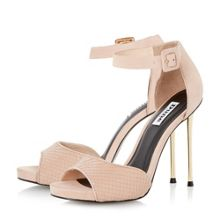 Marny two part metal heel sandals
