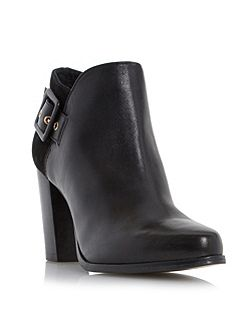 Oaklee buckle block heel ankle boots