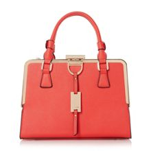 Diana structured metal frame top handbag