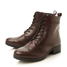 Persia brogues leather ankle boots