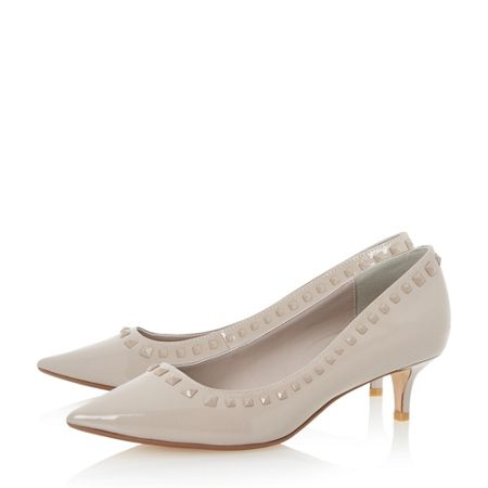 Dune Anya pointed toe studded kitten heels