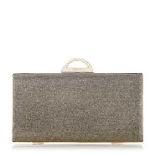 Dune Bex lurex clutch bag