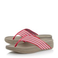 FitFlop Surfa stripey fabric t-post sandals