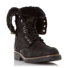 Head Over Heels Roley fur trim calf boots