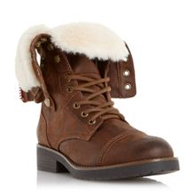 Roley fur trim calf boots