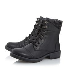 Parkers lace up knit cuff boots