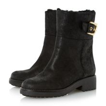 Remi shearling buckle boots