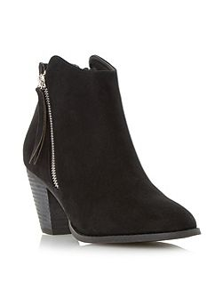 Patel zip detail round toe ankle boots