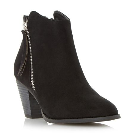 Head Over Heels Patel zip detail round toe ankle boots