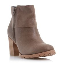 Perfect cleated sole block heel boots