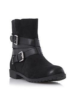 Reenan double buckle wrap ankle boots