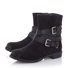 Head Over Heels Reenan double buckle wrap ankle boots
