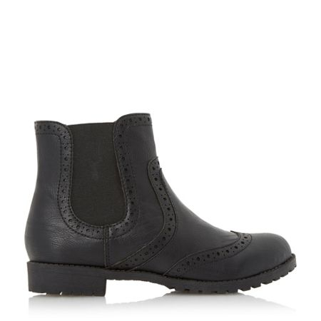 Head Over Heels Ponchito brogue detail chelsea boots