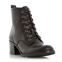 Peppo lace up block heel boots