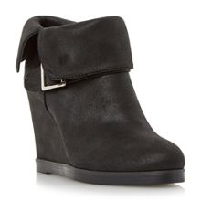 Pindar fold down wedge heel ankle boots
