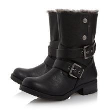 Head Over Heels Rutt faux fur lined calf boots