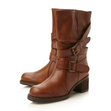 Dune Rocking block heel calf boots