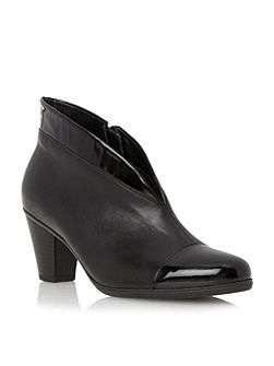 Enfield asymmetric leather ankle boots