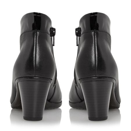 Gabor Enfield asymmetric leather ankle boots
