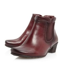 Gabor Sound leather padded cuff chelsea boots